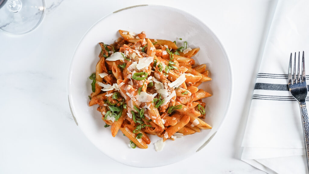 Penne Pasta from Osteria at Domenico Winery