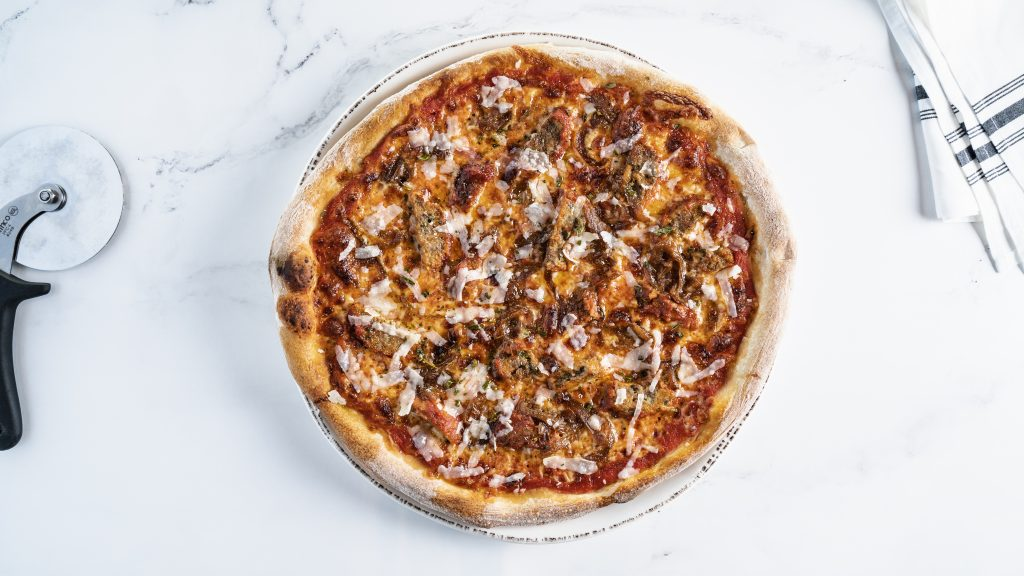 meat lovers pizza from Domenico Osteria